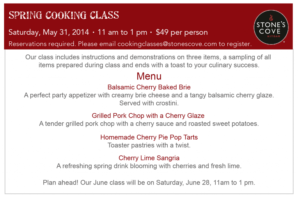 SC Spring Cooking Class