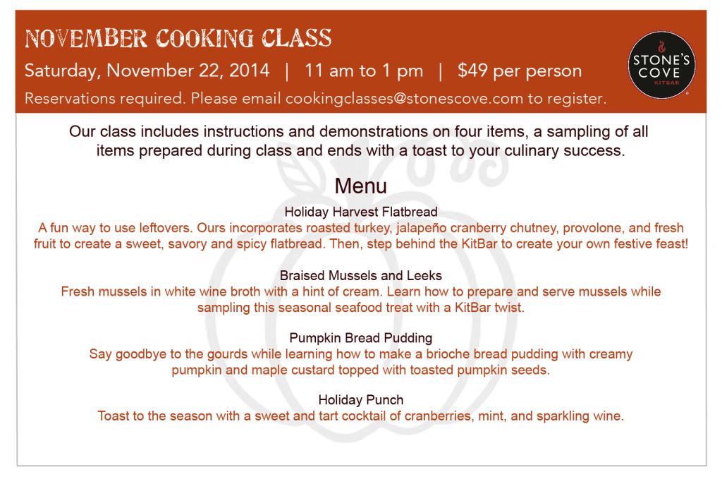 November Cooking Class