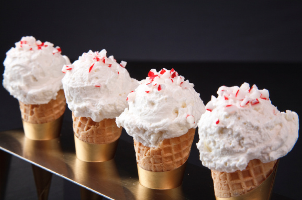 White Chocolate Peppermint Luv Cones